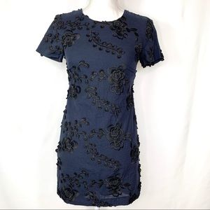 Banana Republic Nvy Blue & Black Embellished Dress